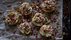 Meatless Monday: Baked Apples Stuffed With Pistachios And Pomegranates