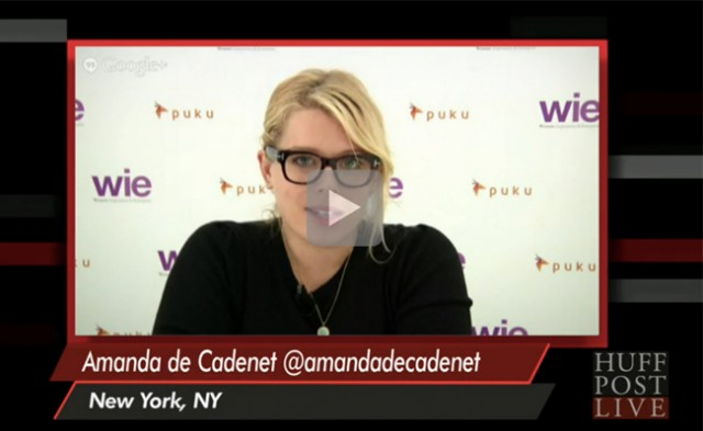 Amanda De Cadenet on HuffPost Live From WIE