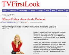 TV First Look: Amanda de Cadenet