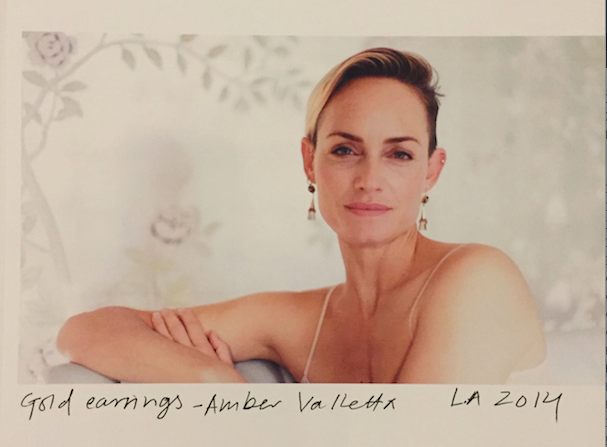 Amber Valletta tells the story behind her Vintage earrings .